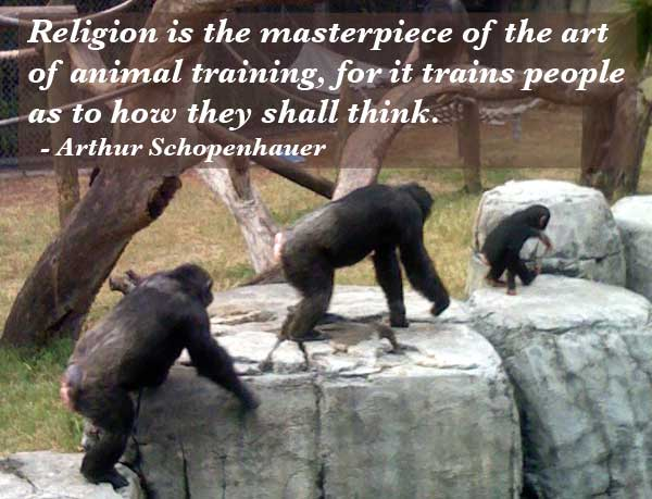 Religion Is The Masterpiece Of The Art Of Animal Training By Arthur